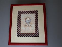Carte Encadrée : La Poule De Luxe  Sur Sa Chaise  & - Disegni