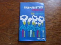 Catalogue Cassettes K7 Philips Claude François Johnny Hallyday Gainsbourg Brel Etc Etc - Cassettes Audio