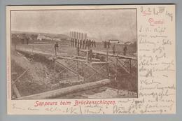 AK CH BL Liestal 1909-07-21 Sapeurs Beim Brückenschlagen Geb. Lüdin - BL Bâle-Campagne