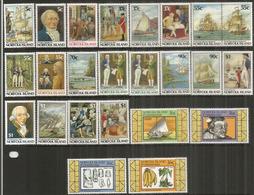 Bicentenaire De La Colonisation De L'île NORFOLK.  24 TIMBRES NEUFS **.  Côte 70,00 € EUR - Ile Norfolk