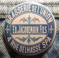 Pin Button Badge Ø38mm Brasserie De L'union SPA (bière) - Bière