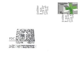 FDC 722-3 Czech Republic Lidice And Lezaky 2012 - 2. Weltkrieg