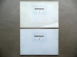 Bollettario Rivista Di Scrittura E Critica Numeri 1 E 2 Sanguineti Modena 1990 - Livres, BD, Revues