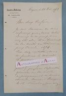 L.A.S 1873 Docteur L. MONIER - Avignon - Société De Médecine Du Département De Vaucluse - Lettre Autographe LAS - Autographes