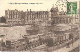 Dépt 78 - SAINT-GERMAIN-EN-LAYE - La Gare Et Le Château - (train) - St. Germain En Laye
