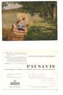 M7450 Pubblicitaria Farmaceutici PAUSANIS VISTER VISMARA 1952 CASATANUOVO BRIANZA COMO - Advertising