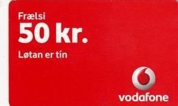 FAROE ISLANDS - Frælsi Vodafone , 50 Kr,  Teletid, Expire Date 07/2011 , Used - Faroe Islands