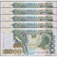 TWN - SÃO TOMÉ E PRÍNCIPE 66d  - 10000 10.000 Dobras 31.12.2013 DEALERS LOT X 5 - Prefix BA UNC - Sao Tomé Et Principe