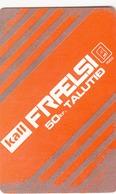 FAROE ISLANDS - Kall Frælsi , 50 Kr,  Teletid, Expire Date 01/2009 , Used - Faroe Islands