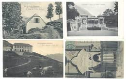 4 CPA Cauterets - Thermes, Col De Riou, Gare De La Raillère, Grange De La Reine Hortense ..   ( S 3127 ) - Cauterets