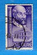 ITALIA ° - 1949 - ANDREA PALLADIO. Sass. 609.   Vedi Descrizione - 1946-60: Used