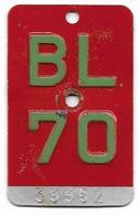 Velonummer Basel-Land BL 70 - Plaques D'immatriculation