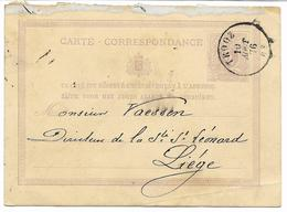 CHARBONNAGES DU HASARD  -beau Cachet TROOZ 10 AOUT 76  Sur EP -lion Couché  Pour LIEGE -2° CHOIX  Voir 2 Scans - Cartes Postales [1871-09]