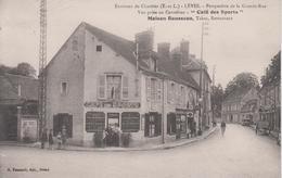 """CPA Environs De Chartres - Lèves - Perspective De La Grande-Rue - """"Café Des Sports"""" Maison Rousseau - Lèves"""