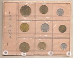 Argentina - Vecchio Souvenir Sheet Con 9 Monete Differenti - Argentina