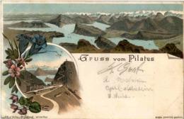 Gruss Vom Pilatus - Litho - LU Luzern