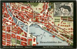 Luzern - Stadtplan - Map - LU Lucerne