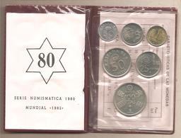 """Spagna - Serie Numismatica 1980 """"Mundial 82"""" - [ 5] 1949-… : Regno"""