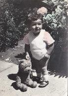 Girl W Teddy Bear Real Photo Postcard - Jeux Et Jouets