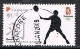 Singapore 2008 Beijing Olympics $1.10 Type 2 Good/fine Used [15/14421/ND] - Singapore (1959-...)
