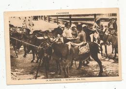 Cp ,animaux , La Location Des ânes , 63, LA BOURBOULE ,vierge , Ed. Gouttefangeas - Asino