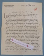 L.A.S Imprimée 1933 Docteur Albert CAZIN Médecin à CORCIEUX (Vosges) - Lettre Autographe - Médecine Pharmacie - Autógrafos