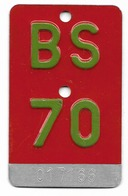 Velonummer Basel Stadt BS 70 - Number Plates