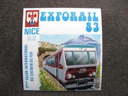 "TB B.F. Privé "" EXPORAIL, NICE83"". - Blocs & Feuillets"