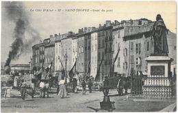 CPA SAINT TROPEZ - Quai Du Port - Ed. Bérenguier N°22 - Saint-Tropez