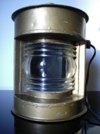 ANCIEN FANAL LAMPE DE MARINE OLD NAVY LAMP - Maritime Decoration