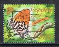Singapore 2010 Butterflies $1.10 Good/fine Used [15/14417/ND] - Singapore (1959-...)