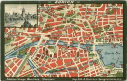 Zürich - Stadtplan - ZH Zurich