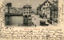 Gruss Aus Zürich - Limmatquai Mit Tram - ZH Zurich