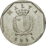Monnaie, Malte, 5 Cents, 1991, British Royal Mint, TB+, Copper-nickel, KM:95 - Malte