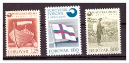 ISOLE FÆR ØER - 1976 - AUTONOMIA POSTALE. SERIE COMPLETA. PRIMO VALORE CON PIEGA - MNH** - Isole Faroer