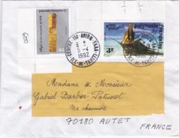 POLYNESIE : Oblitération Centre Tri FAAA Ile De Tahiti Sur Lettre De 1992 - Storia Postale
