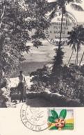 WALLIS ET FUTUNA : Carte Maximum Flore D'Outremer CaD De Mata-Utu De 1958 - Wallis Und Futuna