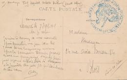 Tampon Hôpital Mixte Embrun (05 Hautes Alpes) Salle Militaire Hospice Mixte Medecin Chef Un Poilu à Sa Grand Mère Blois - Guerre De 1914-18