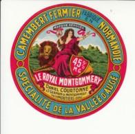 Etiquette De Fromage Camembert - Le Royal Montgommery - Daniel Courtonne. - Fromage