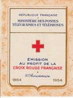 FRANCE - Carnet CROIX-ROUGE Neuf - 1954 - Croix Rouge