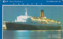 Télécarte Japon / 110-011 - BATEAU - FERRY QUEEN ELIZABETH - SHIP Japan Phonecard - SCHIFF Telefonkarte - 701 - Boats