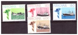 ISOLE FÆR ØER - 1977- NAVI DA PESCA. SERIE COMPLETA. - MNH** - Isole Faroer