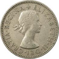 Monnaie, Grande-Bretagne, Elizabeth II, Shilling, 1958, TTB, Copper-nickel - 1902-1971 : Monnaies Post-Victoriennes