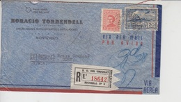 Uruguay Airmail Cover, Stamps, World War II Censorship    (A-135) - Uruguay