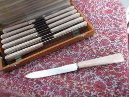 Couteau Art Nouveau Des Années 40 12 Couteaux Dans Coffret D'origine Lame Acier TBE Couverts - Couteaux