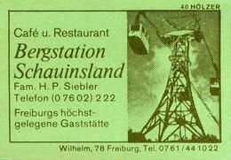 10 Alte Gasthausetiketten, Cafe Und Restaurant, Bergstation Schauinsland, Freiburg #9 - Boites D'allumettes - Etiquettes