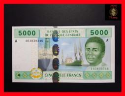 C.A.S CENTRAL AFRICAN STATES GABON 5.000 Francs 2002  P. 409 A - États D'Afrique Centrale