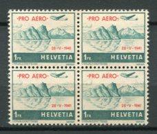 9408  SUISSE  PA 34A**/* 1F Vert  Vol D'Unterwald-le-bas à Payerne (Vaud)   1941  TB - Poste Aérienne