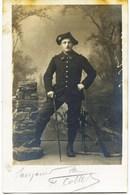 10801  Militaria - Carte Photo - Chasseur Alpin Du 22 éme    Annecy -   F.Cottet Au Dos  Datée 1917 - 1914-18