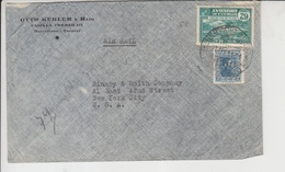 Uruguay Airmail Cover, Stamps, World War II Censorship,      (A-152) - Uruguay